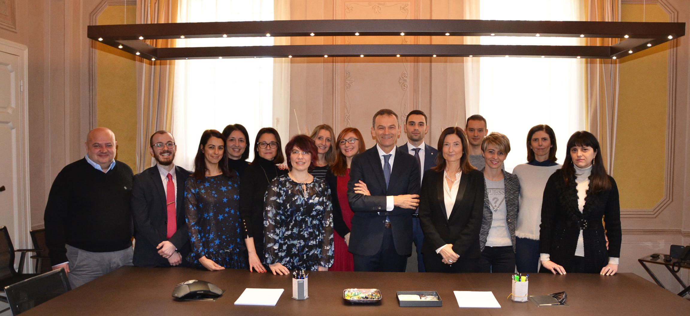Foto di gruppo dello staff di Studio Berti Rizzoli